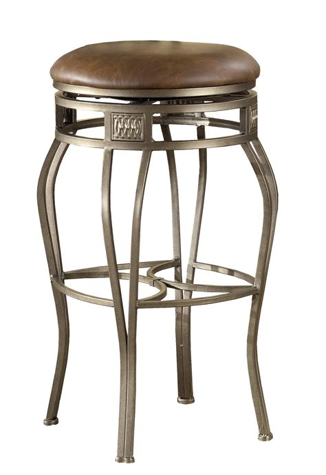 swivel bar stools no back 26 quot backless montello swivel counter stool by hillsdale