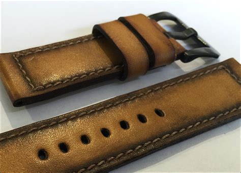 Handmade Leather Straps - genuine handmade gunny quot artdeco 2 series quot genuine
