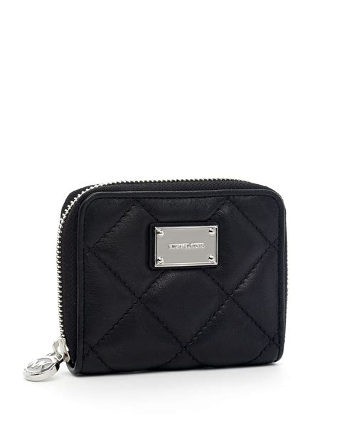Michael Kors Black Quilted Wallet michael michael kors hamilton small quilted continental