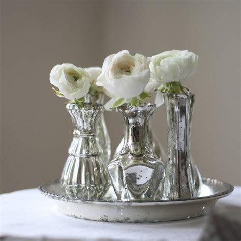 Silver Vases For Wedding set of six mercury silver vases on tray wedding by the wedding of my dreams notonthehighstreet