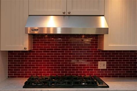 red tiles for kitchen backsplash red subway tile backsplash kitchen ideas pinterest