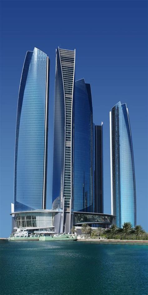 future building designs etihad towers will become abu dhabi s landmark