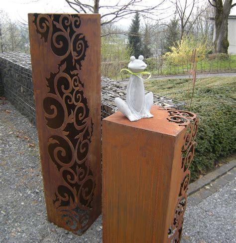 gartendeko säulen rosts 228 ulen helenahutters webseite