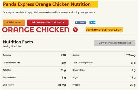 Panda Express Nutrition Calculator | World of Printable ... Nutrition Menu Panda Express