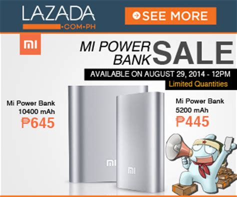 mi power banks available for a day only at lazada this