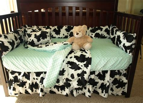 Cow Print Baby Bedding Set Cow Print Sew And Babies Cow Print Crib Bedding
