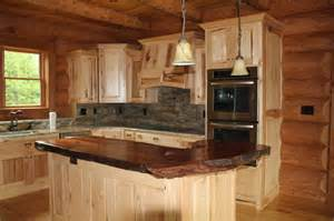 Natural wood countertop traditional kitchen