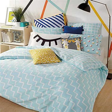 zig zag comforter set scribble zig zag reversible comforter set bed bath beyond