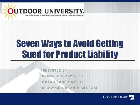 7 Ways To Get Your 1 Year To Talk by Seven Ways To Avoid Getting Sued For Product Liability