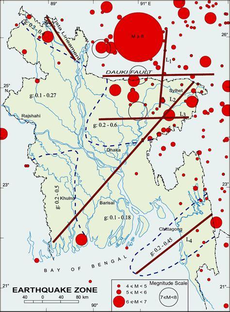 earthquake zones map earthquake zones historical earthquake maps of bangladesh