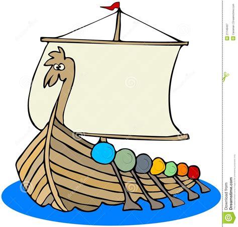 viking boats cartoon viking ship stock illustration image of mast water