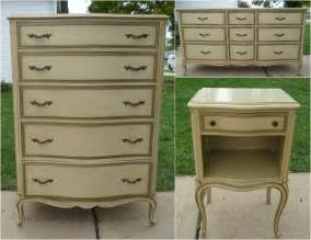 picked painted provincial dresser set bedroom