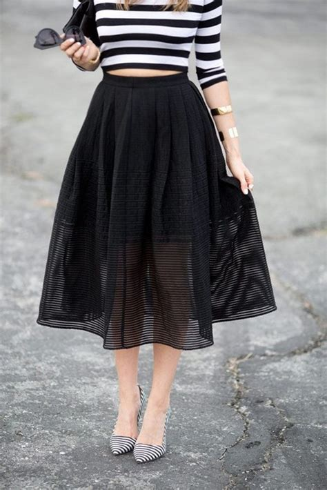 20 looks with pretty midi skirts glam sugar