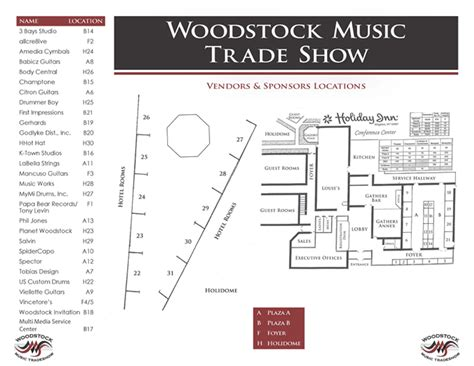 Trade Show Floor Plan | woodstock music trade show floor plan