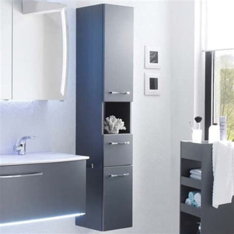 wall hung tall bathroom cabinets solitaire 7025 2 door 1 drawer tall wall hung bathroom