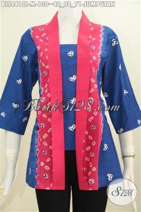 Kain Jumputan Dan Batik Printing batik motif jumputan keren model baju batik modern 2018