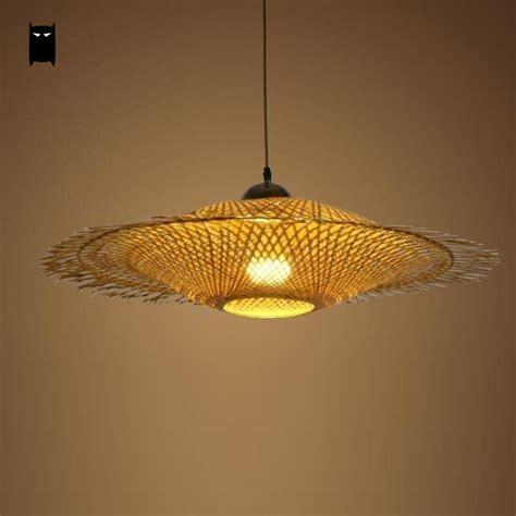 rattan pendant l shade bamboo wicker rattan pendant light fixture rustic ceiling