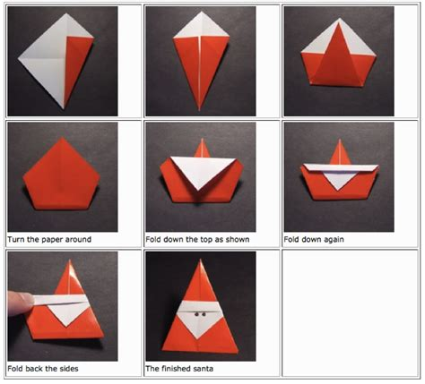 How To Make Santa Origami - origami jasminesjapanese