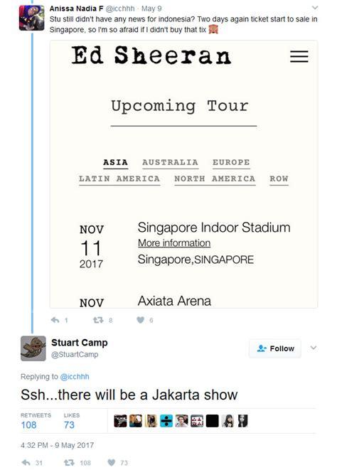 ed sheeran indonesia tour siapkan tabungan ed sheeran bakal konser di indonesia lho