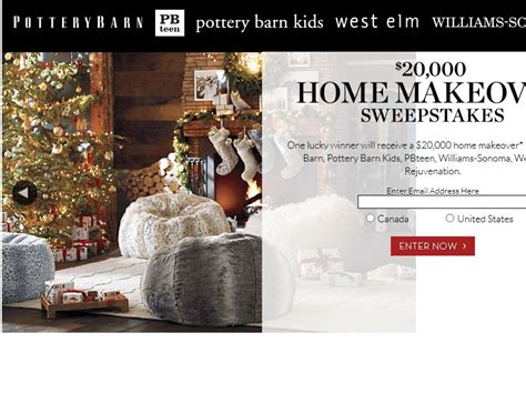 pottery barn 20k home makeover sweepstakes sweepstakes
