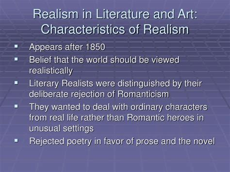 literature characteristics ppt society and culture in the 19 th century powerpoint