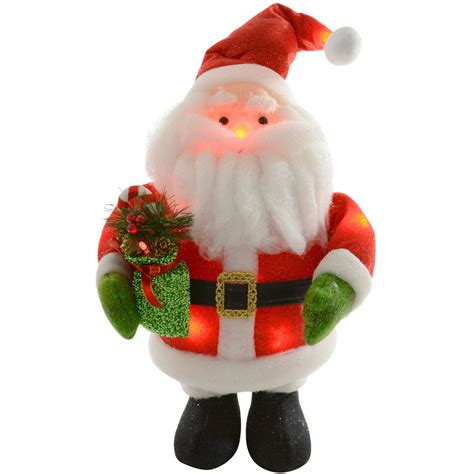 light up santa claus 41cm battery light up flashing santa claus christmas