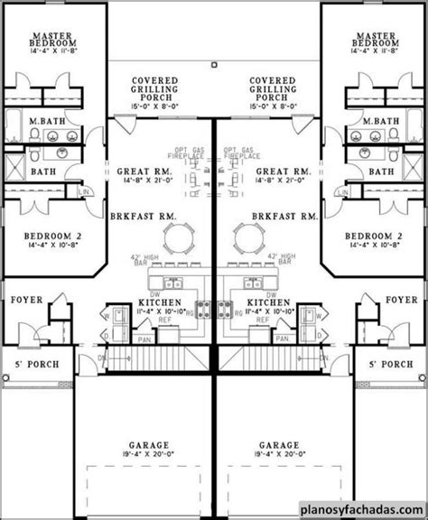 williston park ranch fourplex plan 072d 0739 house plans multi family house plans with courtyard 28 images