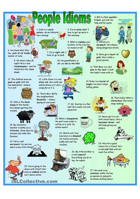 idioms free esl worksheets fourthgradefriends