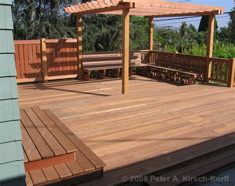 decks with benches mangaris redwood deck with arbor benches los angeles studio city ca
