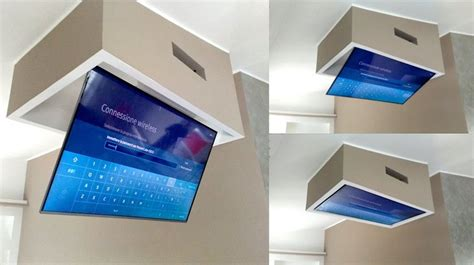 staffe per tv a soffitto tv moving mfct supporto tv motorizzato da soffitto per