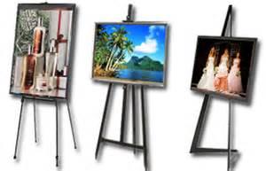 Easel displays frames sold w easels