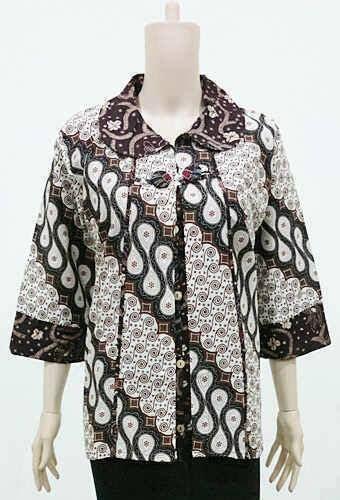 design batik wanita baju muslim batik wanita terbaru lengan panjang baju