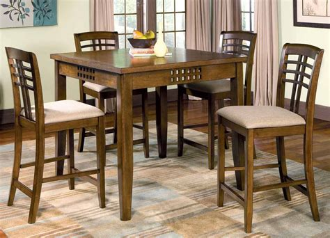 bar height dining room sets rich walnut counter height dining room set counter