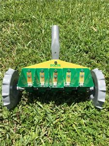 precision garden seeder with 5 seed containers home garden