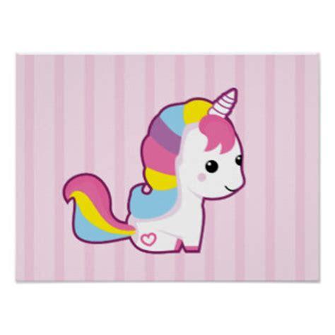 regalos unicornios kawaii zazzle es p 243 sters unicornio kawaii l 225 minas e impresiones