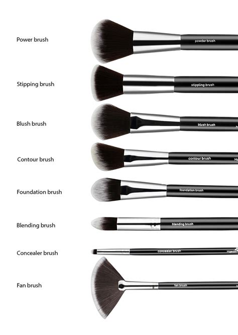 8 Makeup Brush Set essential 8 makeup brushes set
