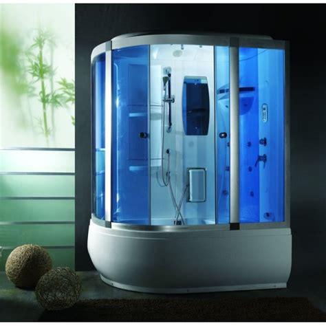 vasca idromassaggio sauna cabina e vasca idromassaggio 165x100cm con cromoterapia vi