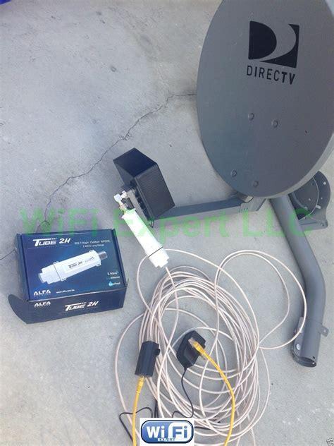 dish biquad wifi antenna alfa poe tube  outdoor booster   internet rf coaxial