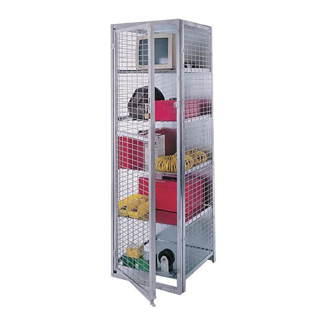 ak storage locker 5 shelves 18in w x 18in d x 72in h