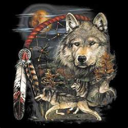 native american wolves dream catcher indian wolf t shirt