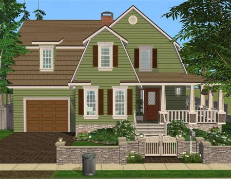 sims 3 6 bedroom house mod the sims 3 bedroom green country style home