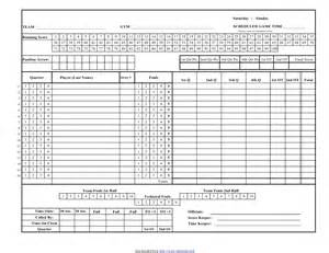 Basketball Score Sheet Excel Template by Search Results For Basketball Score Sheet Free