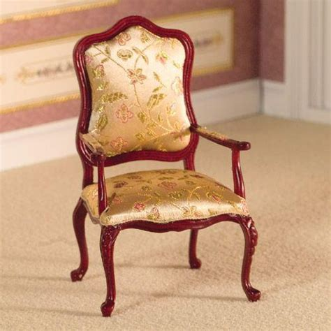 Carved Armchair by The Dolls House Emporium Finely Carved Armchair Stool