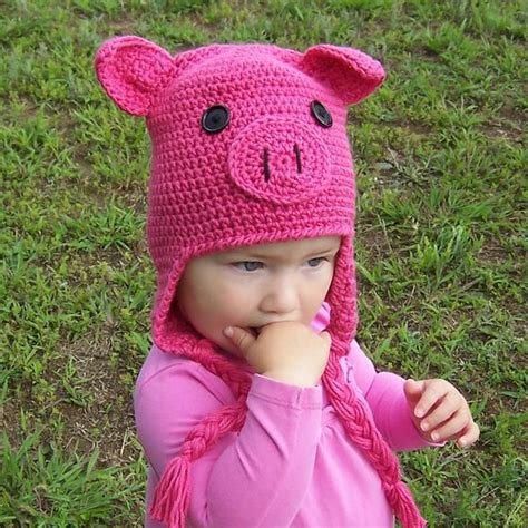 knitted pig hat oink oink pig crochet hat knitting patterns and