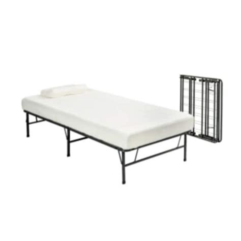 folding twin bed frame pragma fold bed frame twin xl size with 6 inch memory foam