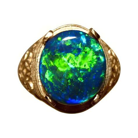 black opal mens ring mens big black opal ring 14k gold black opal ring