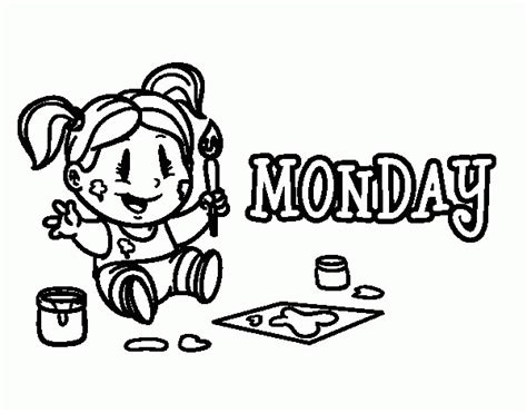 days of the week coloring pages coloring home