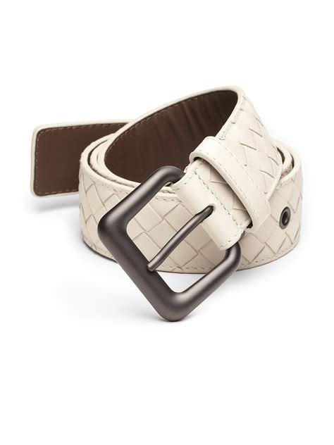 Bottega Venetas Intrecciato Woven Leather Boots by Bottega Veneta Intrecciato Woven Leather Belt In White For