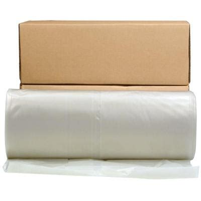 husky 40 ft x 100 ft clear 6 mil plastic sheeting