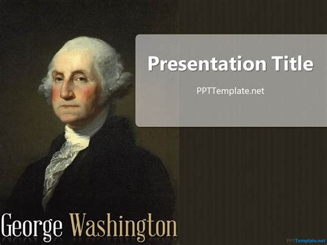 Free George Washington Ppt Template Powerpoint Biography Template